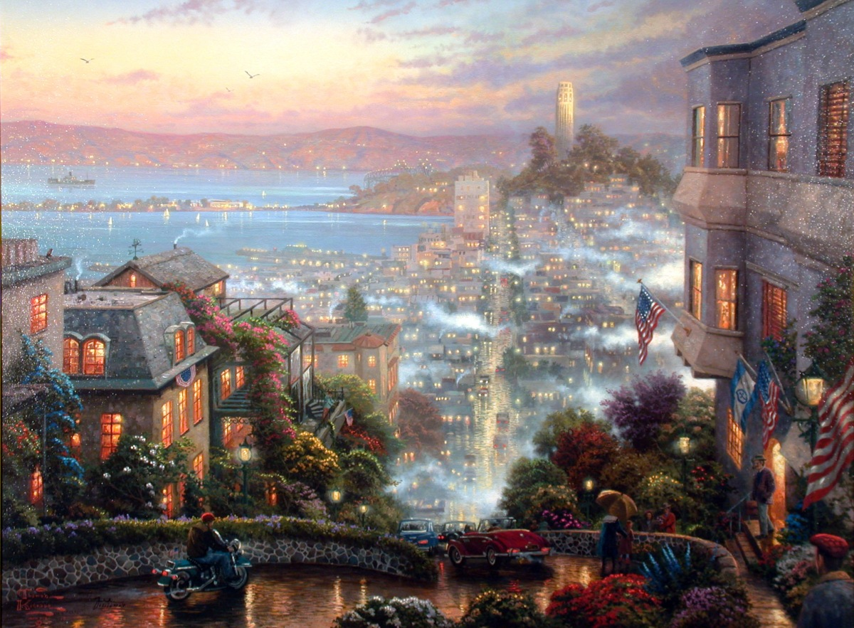 Painter Thomas Kinkade's Lombard Street (Crooked Street)