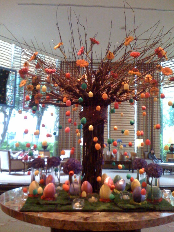 A fun type of decorations at the Conrad Hotel lobby