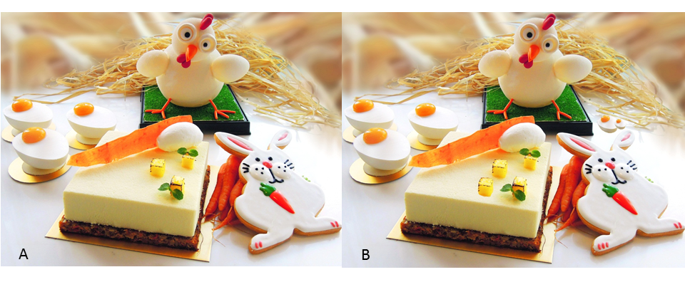 Can you spot 5 differences between picture (A) and (B) - courtesy of Marriott Hotel Hong Kong facebook page
