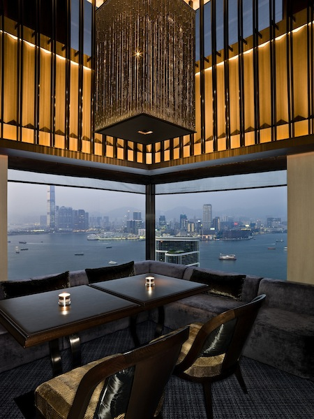 A gorgeous view of the HK harbour at Cafe Gray at Upper House (hotel)