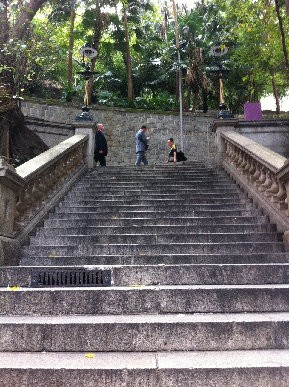 Stairs leading down to the business district on Hong Kong Island