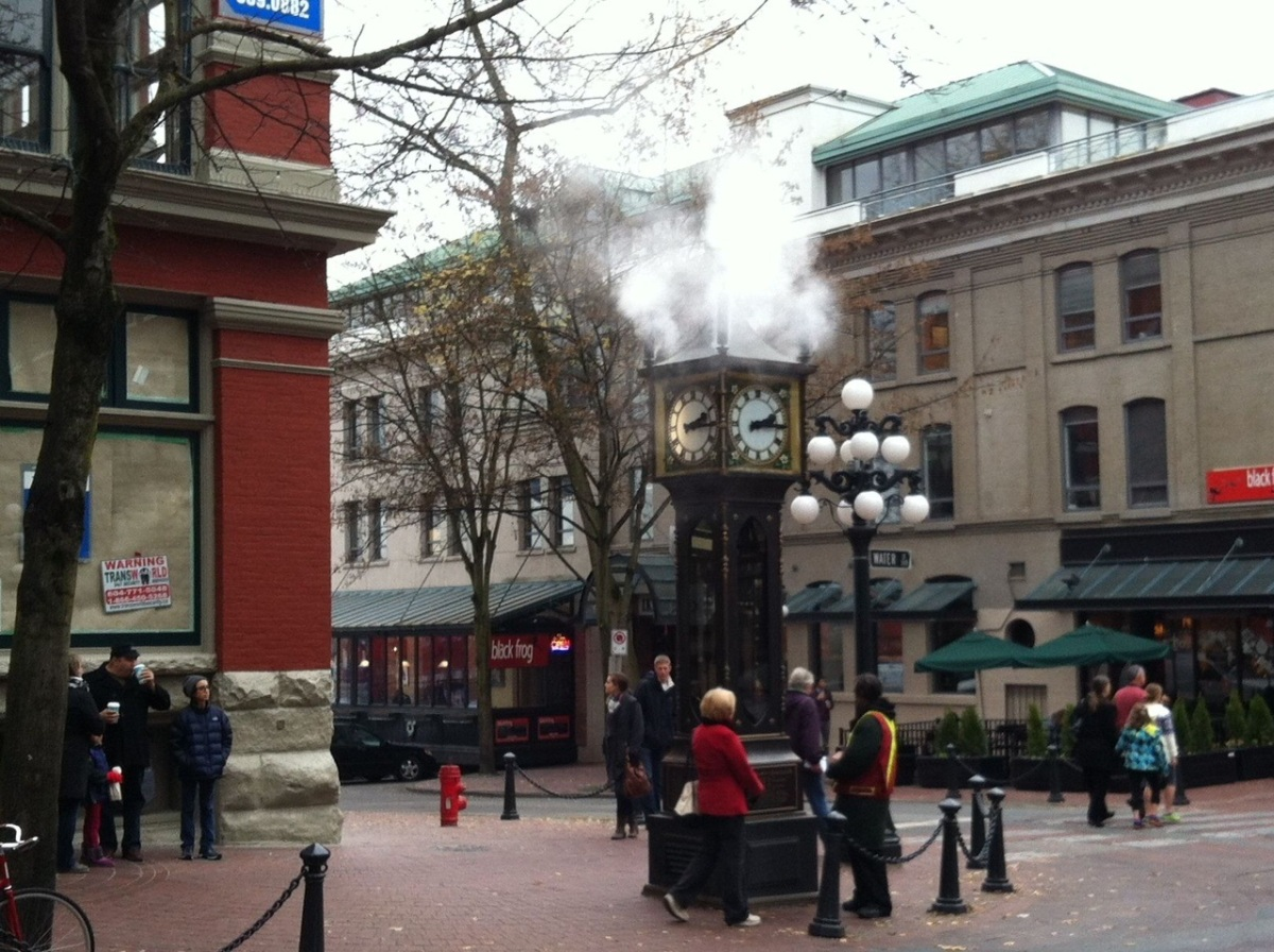 The artsy Gastown district in downtown and waterfront Vancouver