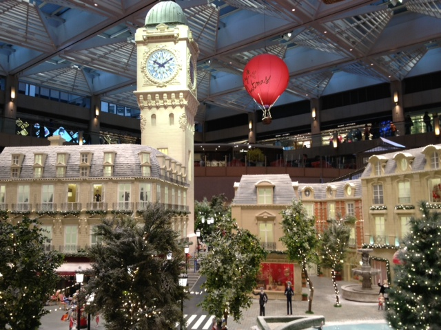 Paris in Hong Kong!  Lovely decorations in the Landmark Building, Hong Kong
