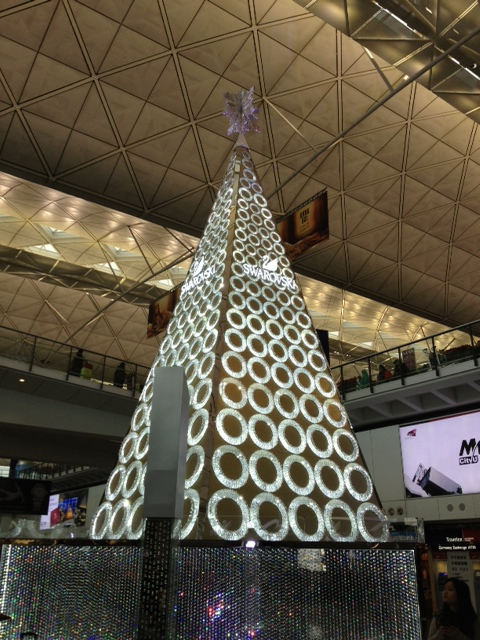Swarovski decoration at the HK International Airport!